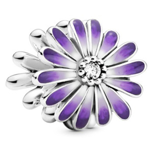 Purple Daisy Flower Charm