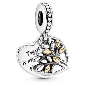 Family Tree Heart Charm