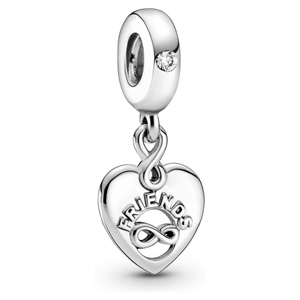 Friends Forever Heart Dangle