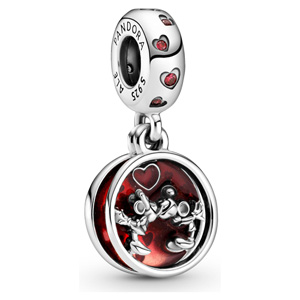 Disney Mickey and Minnie Mouse Love and Kisses Dangle