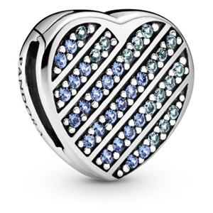 Reflexions Blue Pave Heart