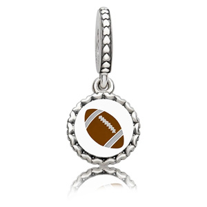 Football Engraved Dangle