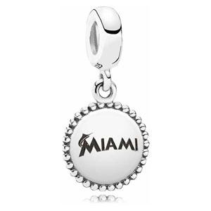 Retired PANDORA Miami Marlins MLB Logo Dangle    Professional Sports  USB791169-G015    Authorized Online Retailer d866c7d7355