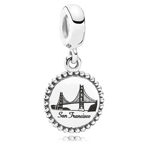 Retired PANDORA San Francisco Dangle Charm    Sterling Silver Charms  USB791169-G042    Authorized Online Retailer a4f2e9d1601