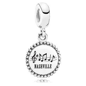 Retired PANDORA Nashville Dangle Charm    Sterling Silver Charms  USB791169-G047    Authorized Online Retailer 17c3b656247