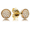 14K Gold Dazzling Droplets Stud Earrings