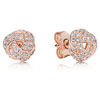 Pandora Rose™ Sparkling Love Knot Earrings