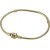 14K Gold Necklace with Snap Clasp
