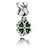Green Four Leaf Clover Dangle