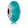 Teal Shimmer Faceted Murano Glass Charm