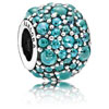 Shimmering Droplets with Teal Zirconia Charm