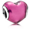 In My Heart Charm with Violet Enamel