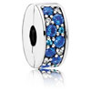 Shining Elegance Clip with Blue Mosaic