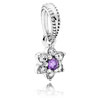 Forget Me Not Flower Dangle with Purple Zirconia