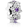Forget Me Not Flower Spacer with Purple Zirconia
