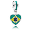 Brazil Heart Flag Dangle
