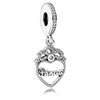 Princess Crown Heart Dangle
