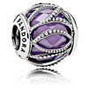 Intertwining Radiance Charm with Purple Zirconia