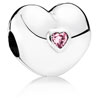Steady Heart Clip with Pink Zirconia