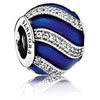 Adornment Charm with Blue Enamel