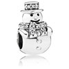 Snowman Charm with Clear Zirconia