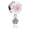 Magnolia Bloom Charm with Flower Dangle