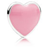 Pink Heart Locket Charm