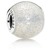 Silvery Enamel Glitter Ball Charm