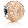 Rose Enamel Glitter Ball Charm