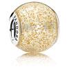 Golden Enamel Glitter Ball Charm