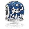 Christmas Night Snow Globe Charm